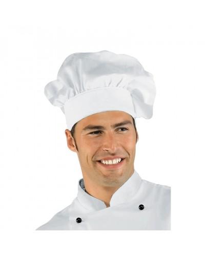 Cappello Unisex Cuoco Bianco Regolabile in cotone Isacco