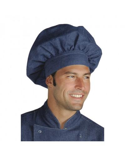 Cappello Cuoco Blu Jeans Regolabile in cotone Isacco