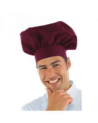 Cappello Cuoco Bordeaux Regolabile in misto cotone Isacco