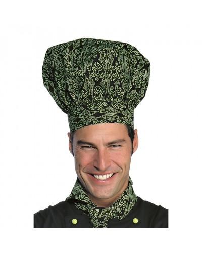 Cappello Cuoco Maori 94 Nero Regolabile in misto cotone Isacco