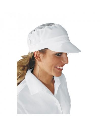 Cappello Unisex Charly Bianco con rete Isacco