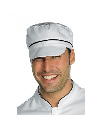 Cappello Unisex Charly Bianco e Nero con Rete Isacco