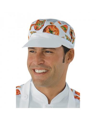 Cappello Charly Bianco e Pizza