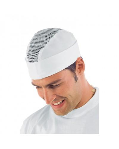 Cappello Unisex Bustina Bianca con rete Isacco