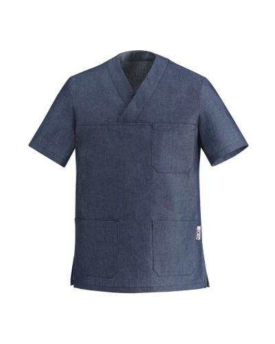 Giacca Cuoco Leonardo Jeans a manica corta Egochef