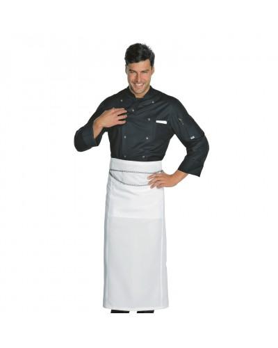 Grembiule Cuoco Excellent Bianco senza catene Isacco
